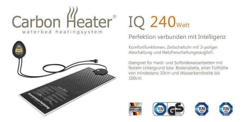 Wasserbetten Heizung TBD Carbon IQ Digital