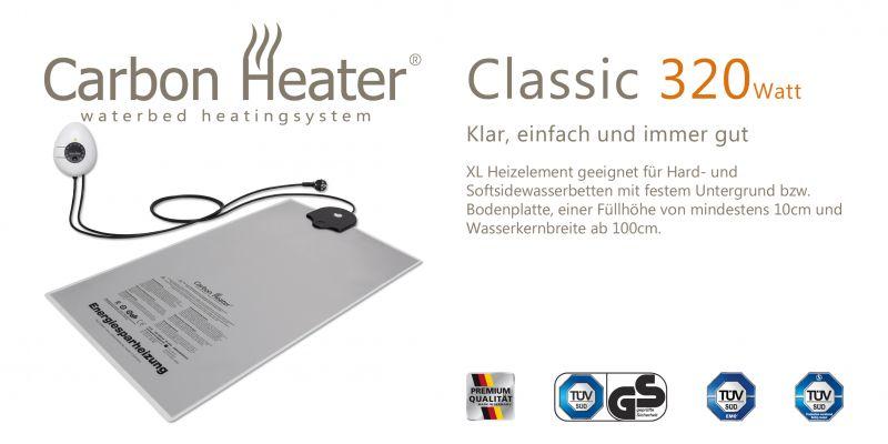 Wasserbetten Heizung TBD Carbon Heater 320 W