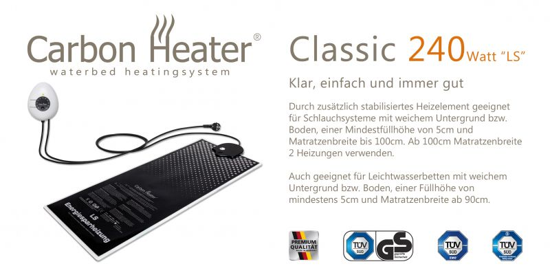 Wasserbetten Heizung TBD Carbon Heater 240 W